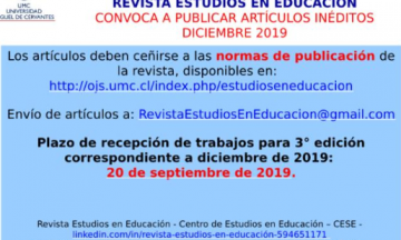 Revista Estudios en Educación / @ Call for paper