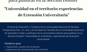 Dossier «Universidad en el territorio: experiencias de Extensión Universitaria» / @ Call for paper