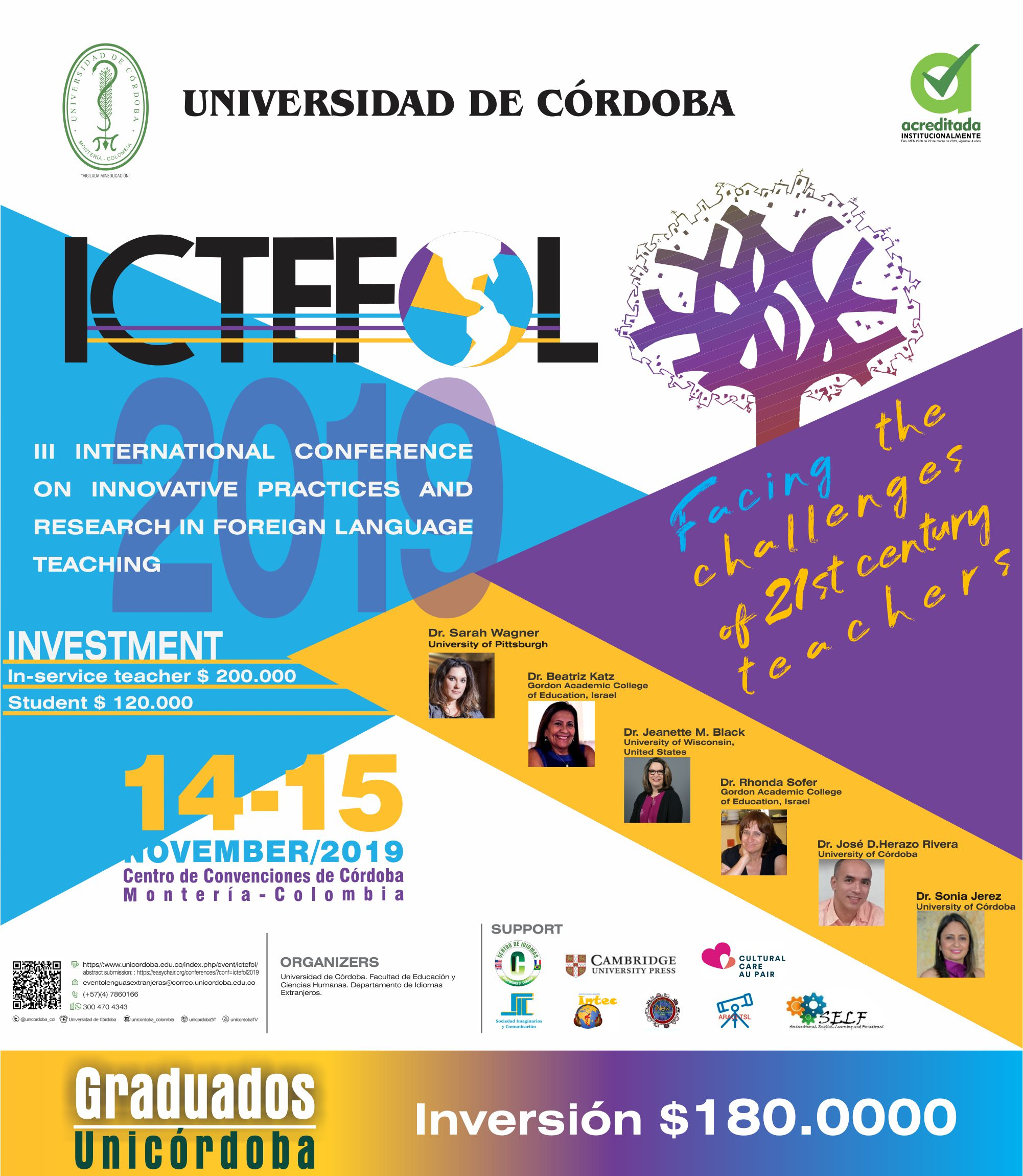 III International Conference on Innovative Practices and Research in Foreign Language Teaching / @ Colombia