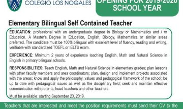 Elementary Bilingual Self Contained Teacher / @ Colombia