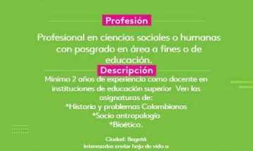 Docente Cátedra Humanidades / @ Colombia