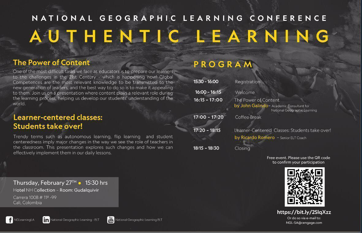 National Geographic Learning Conference: Authentic Learning / @ Colombia